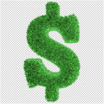 Rendu 3d de symbole de l'herbe