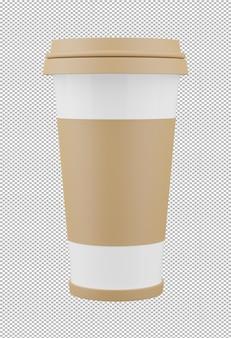 Rendu 3d de tasse de café isolé