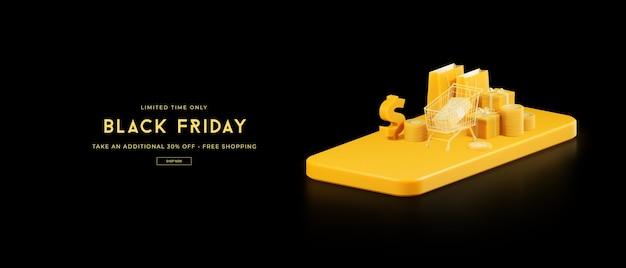 Rendu 3d de la vente du vendredi noir