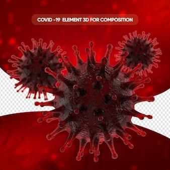 Rendu cellulaire réaliste du virus corona