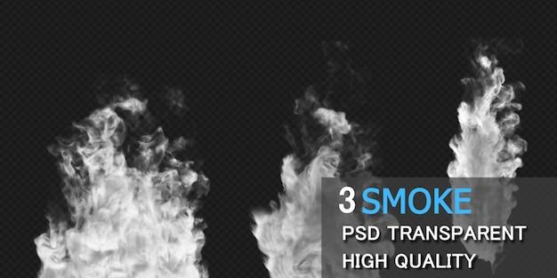 Rendu de conception d'explosion de fumée isolé
