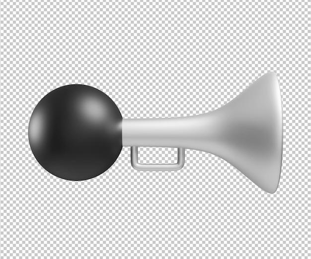 Rendu de conception d'illustration 3d corne isolé