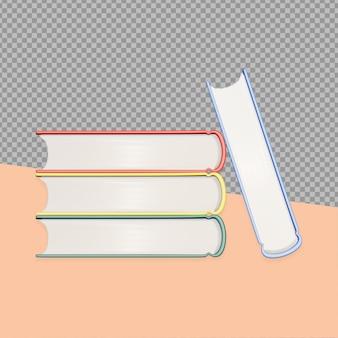 Rendu de conception de livre de dessin animé 3d isolé