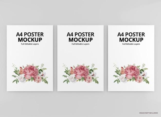 Rendu de conception de maquette d'affiche a4 isolé