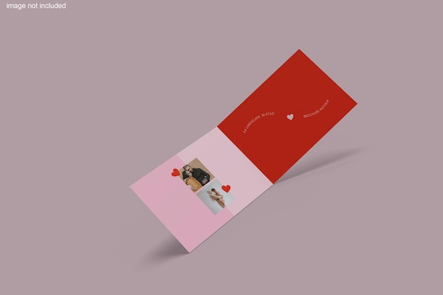 Rendu de conception de maquette de brochure en deux volets