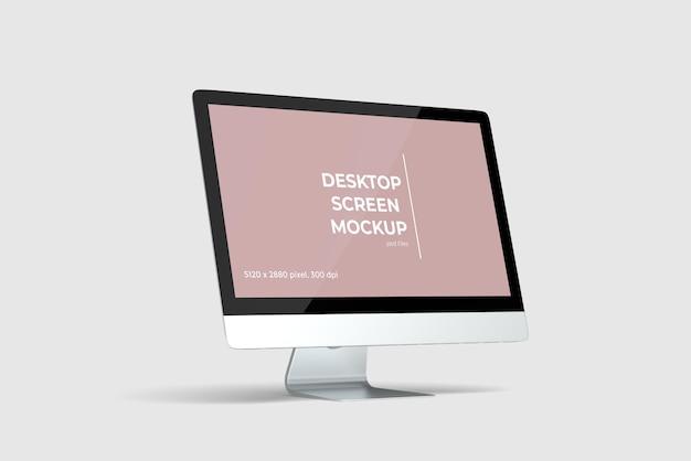 Rendu de conception de maquette de bureau utilisé