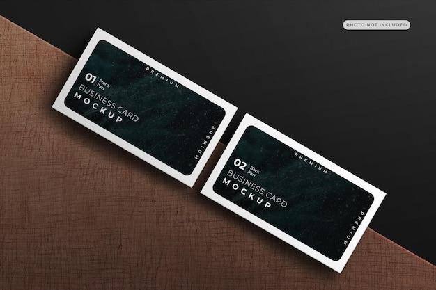 Rendu de conception de maquette de carte de visite