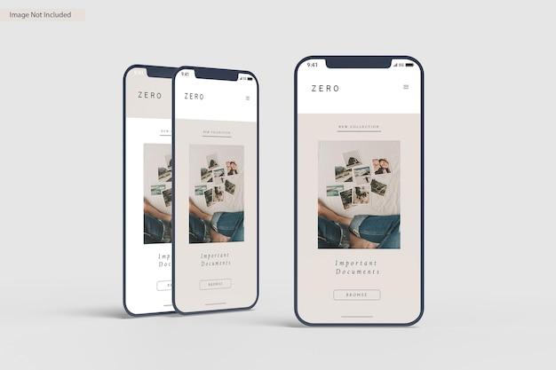 Rendu de conception de maquette d'écran de smartphone