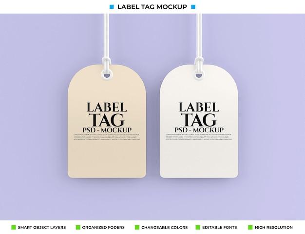 Rendu de conception de maquette d'étiquette d'étiquette