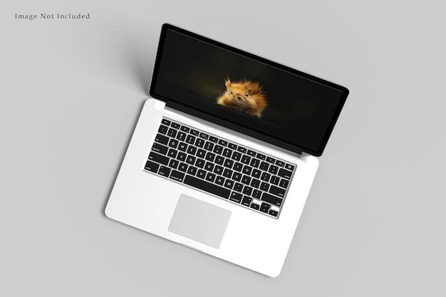 Rendu de conception de maquette d'ordinateur portable isolé