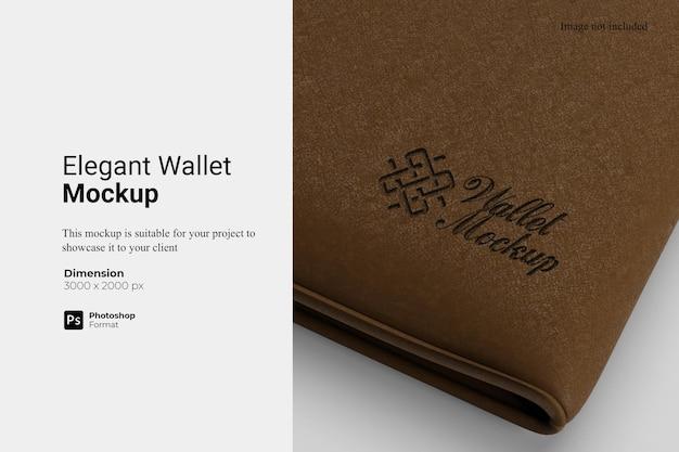 Rendu de conception de maquette de portefeuille élégant