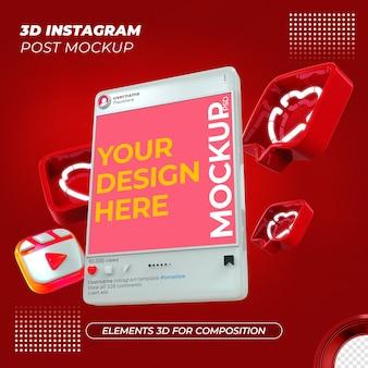 Rendu de conception de maquette de post instagram