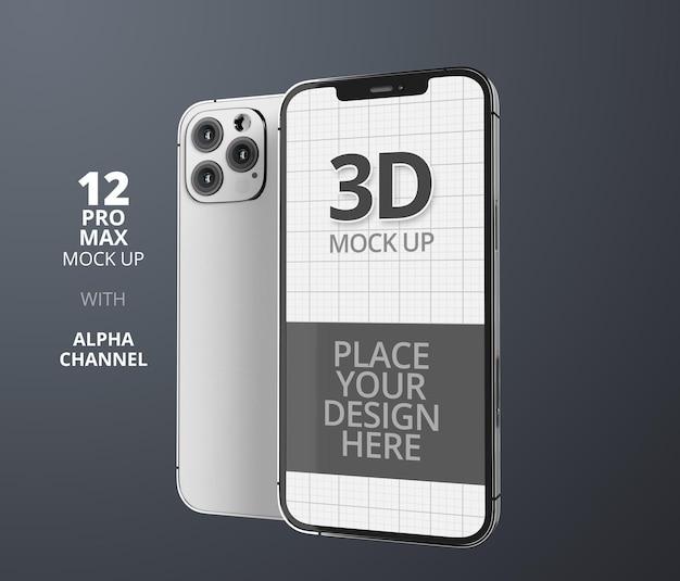 Rendu de conception de maquette de smartphone isolé