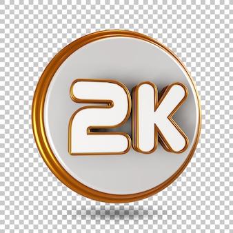 Rendu de conception de rendu 3d golden label isolé