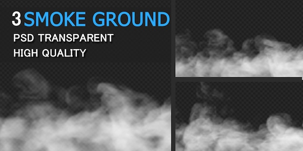 Rendu de conception de sol de fumée de brouillard isolé