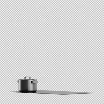 Rendu de cuisine isométrique 3d rendu