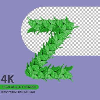 Le rendu du modèle 3d laisse la lettre majuscule de l'alphabet z