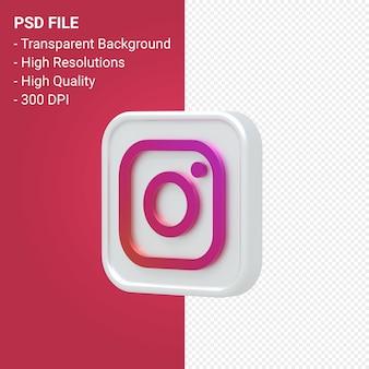 Rendu de l'icône 3d du logo instagram