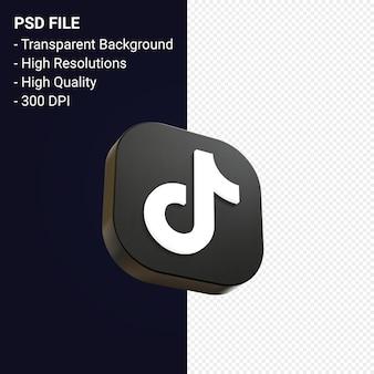 Rendu d'icône 3d logo tiktok isolé