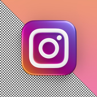 Rendu d'icône d'application instagram 3d