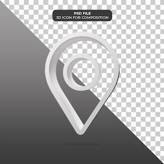 Rendu d'icône de localisation d'illustration 3d