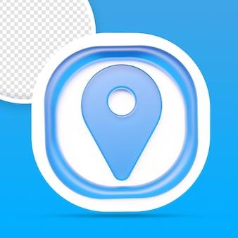Rendu d'icône de localisation isolé
