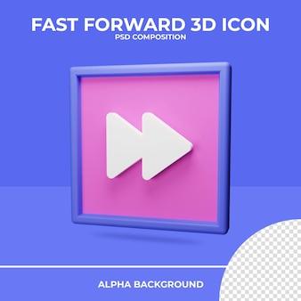 Rendu d'icône de rendu 3d d'avance rapide