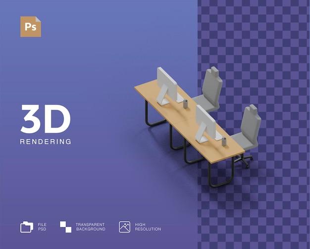 Rendu d'illustration de bureau 3d