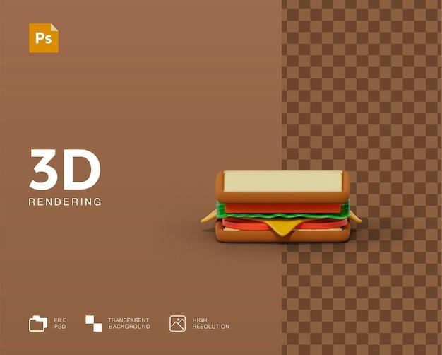 Rendu d'illustration de sandwich 3d