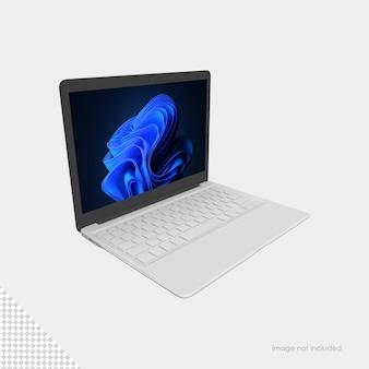 Rendu isolé de maquette d'ordinateur portable