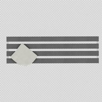 Rendu isométrique de banc 3d