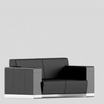 Rendu isométrique canapé 3d