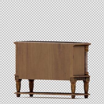 Rendu isométrique du cabinet 3d