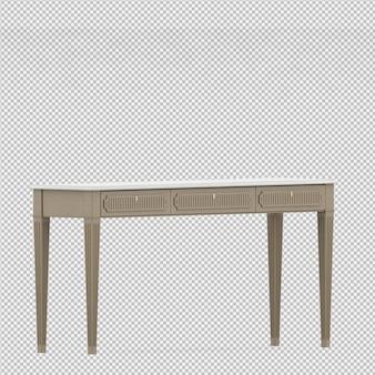 Rendu isométrique de table 3d