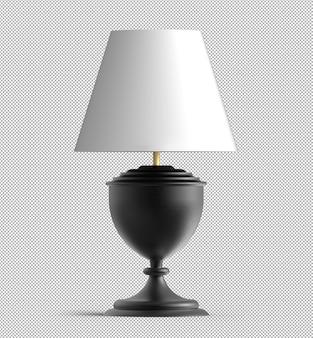 Rendu de lampe de table isolée