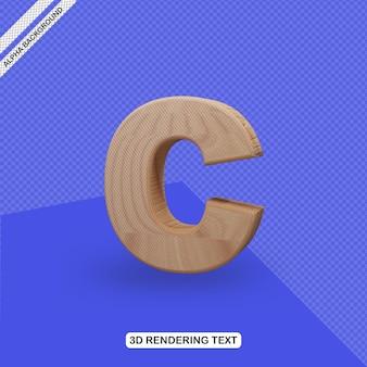 Rendu de lettre c effet de texte 3d