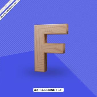Rendu de lettre f effet de texte 3d