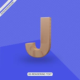 Rendu de lettre j effet de texte 3d