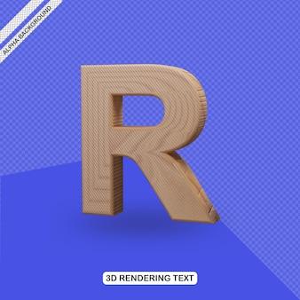 Rendu de lettre r effet de texte 3d