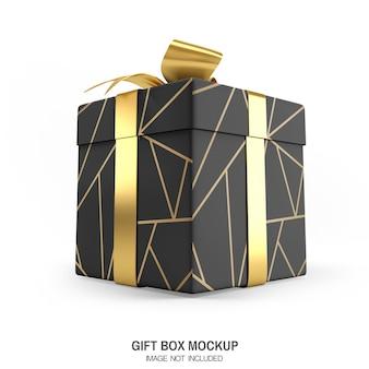 Rendu de maquette de boîte-cadeau de luxe