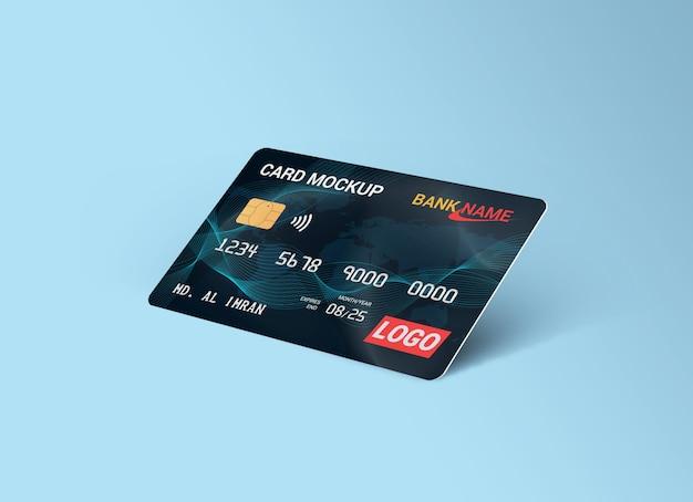 Rendu de maquette de carte de débit isolé