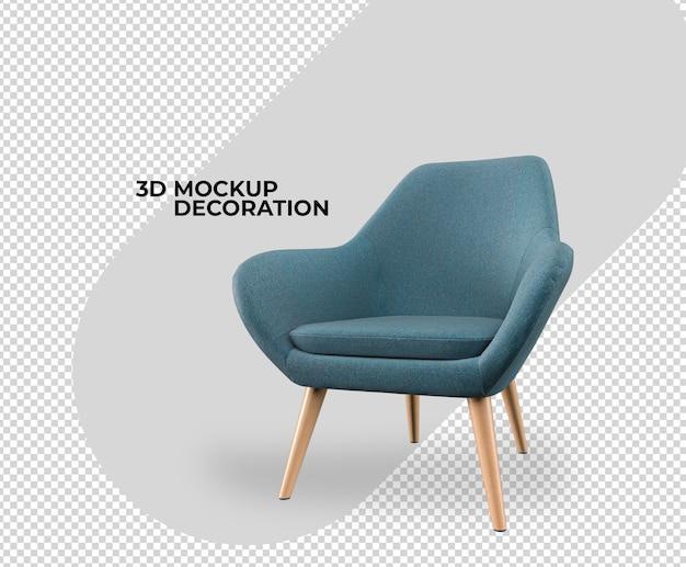 Rendu de maquette de décoration intérieure de chaise
