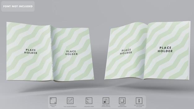 Rendu De Maquette De Magazines 3d Isolé PSD Premium