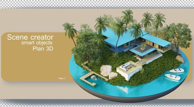 Rendu des plans architecturaux et décoration intérieure