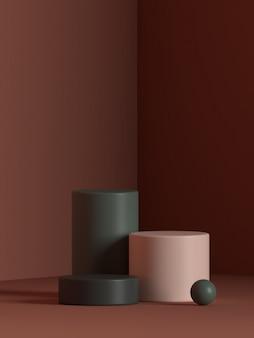 Rendu de podium de forme de géométrie de scène abstraite