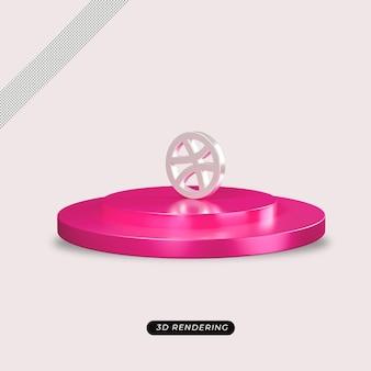 Rendu réaliste de l'icône dribble 3d