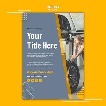 Réparez votre affiche d'assistance mécanique automobile