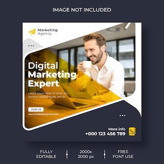 Réseaux sociaux de marketing numérique et modèle de publication instagram
