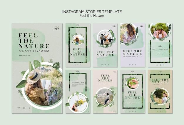 Ressentez les histoires instagram de la nature