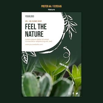 Ressentez le modèle d'affiche de la nature